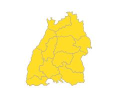 Bodensee-Oberschwaben , Südlicher Oberrhein , Stuttgart , Schwarzwald-Baar-Heuberg , Ostwürttemberg , Nordschwarzwald , Neckar-Alb , Mittlerer Oberrhein , Hochrhein-Bodensee , Franken , Donau-Iller , Unterer Neckar