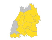 Bodensee-Oberschwaben, Schwarzwald-Baar-Heuberg, Ostwürttemberg, Nordschwarzwald, Neckar-Alb, Mittlerer Oberrhein, Hochrhein-Bodensee, Franken, Donau-Iller, Stuttgart