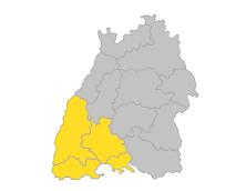 Hochrhein-Bodensee, Schwarzwald-Baar-Heuberg, Südlicher Oberrhein