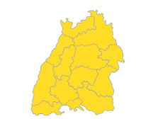 Bodensee-Oberschwaben, Südlicher Oberrhein, Stuttgart, Schwarzwald-Baar-Heuberg, Ostwürttemberg, Nordschwarzwald, Neckar-Alb, Mittlerer Oberrhein, Hochrhein-Bodensee, Franken, Donau-Iller, Unterer Neckar