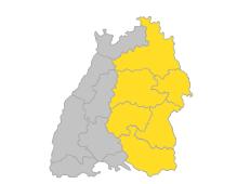 Bodensee-Oberschwaben, Donau-Iller, Franken, Neckar-Alb, Ostwürttemberg, Stuttgart