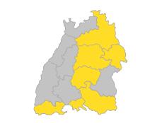 Bodensee-Oberschwaben, Franken, Hochrhein-Bodensee, Neckar-Alb, Ostwürttemberg, Stuttgart