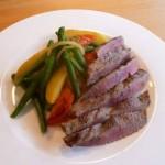 lecker & leicht – Lammlachse mit Salat
