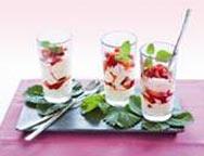 Vanillecreme mit Erdbeeren