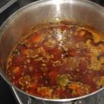 12. Nach der gesamten Kochzeit sollten so ca. 1-1,5 Liter fertige Sauce übrig bleiben.