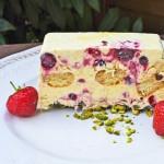 Nicht nur optisch ein Genuss. Ideal für die nächsten sommerlichen Tage: Halbgefrorenes mit Vanille und Beeren...