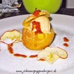 Bratapfel und Parfait