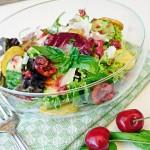 Kirschen im Salat...