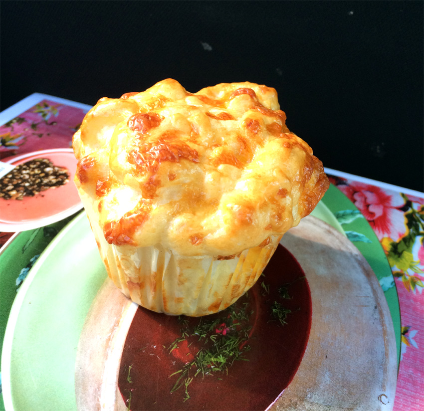 Deftiges aus dem Ofen: Kräuter-Käse-Küchlein mit Kürbis