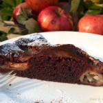 Saftiger Schokoladenkuchen mit Apfel und Walnüssen...ofenwarm ein Traum