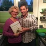 Gemeinsam am Buch gearbeitet: Petra und Johannes Guggenberger