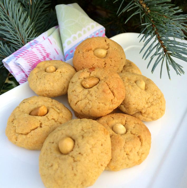 Haselnuss-Kekse mit Birne und Gaishirtlesbrand