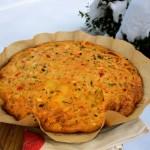 Unsere Tuttlinger Tortilla oder auf deutsch 'Kartoffel-Gemüse-Kräuter-Eierkuchen'