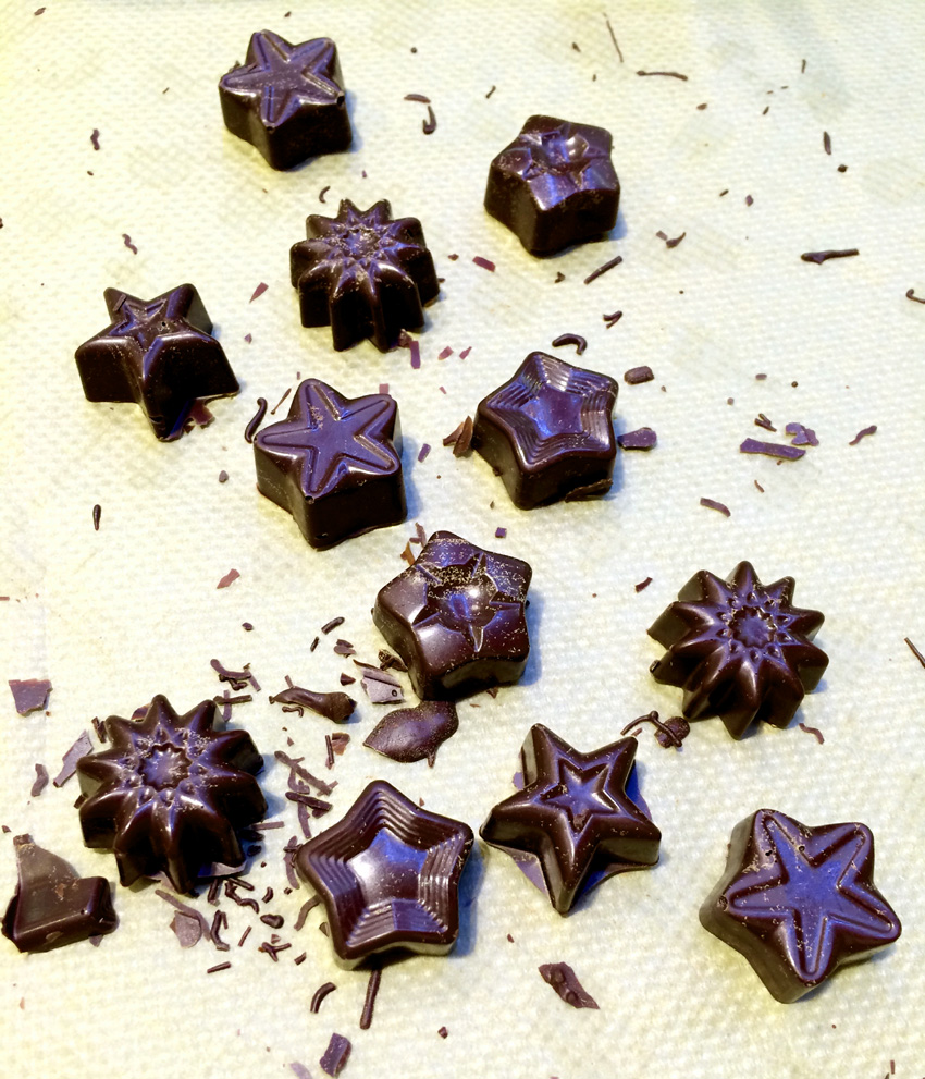 Adventsschokolade, Eiskonfekt & Gummibärchengesichter