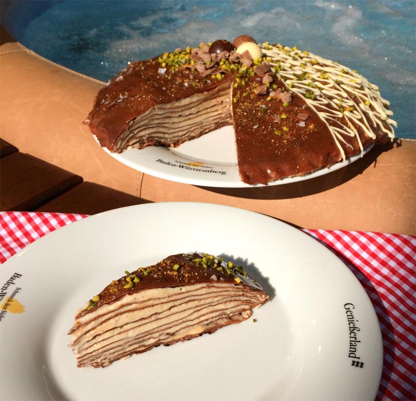 Rezept zum Muttertag: Schokoflädle-Torte mit Karamellcreme