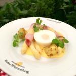 Der Spargelklassiker mit pochiertem Ei