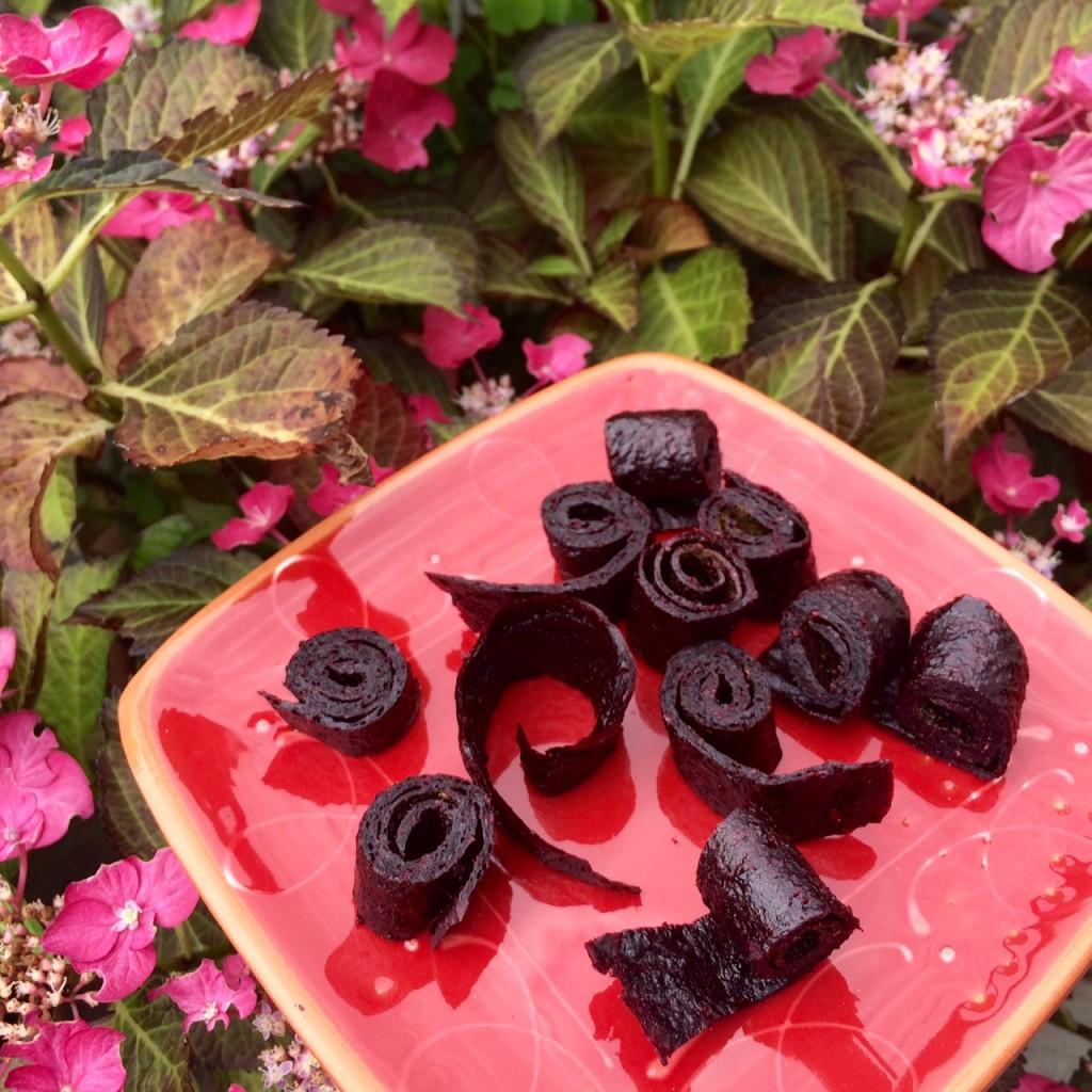 Naschen ohne Reue:  Beeriges Fruchtleder