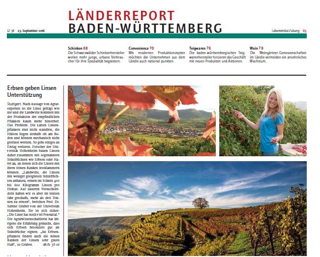 Bild Baden-Württemberg in der Lebensmittelzeitung