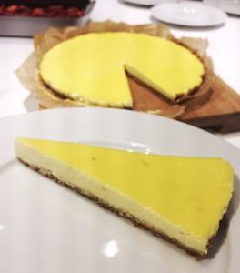 Zitronige Tarte mit Holunder und Frischkäse