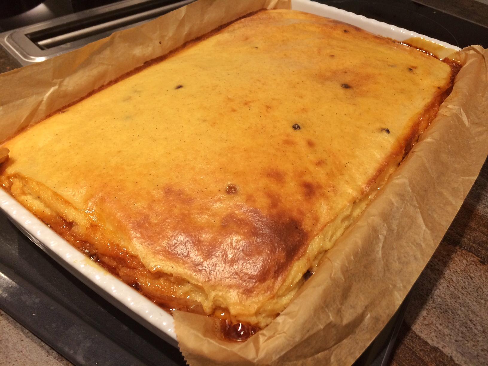 Karamellisierter Grießkuchen