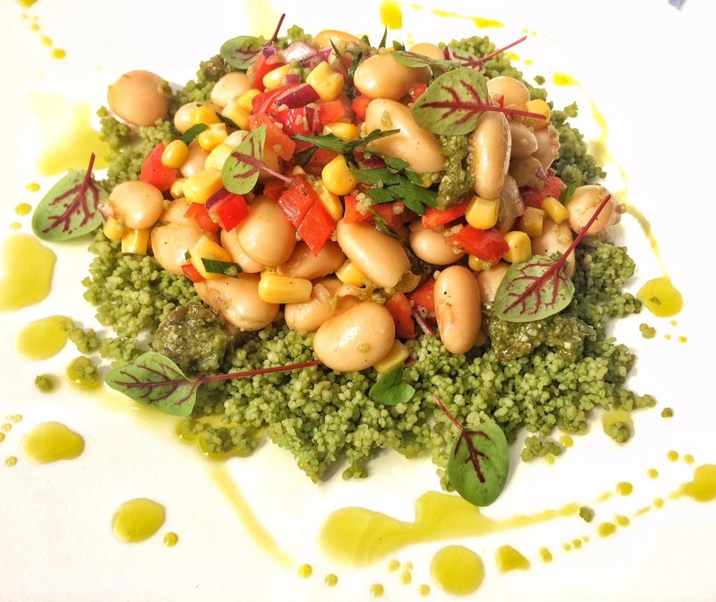 Couscous auf heimische Art – Grasgrüner Weizensalat mit dicken Bohnen