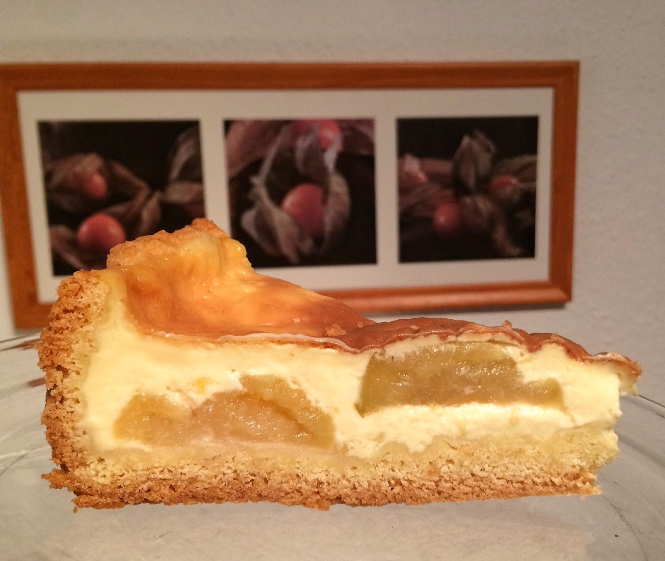 Versunkener Apfelkuchen mit Vanille