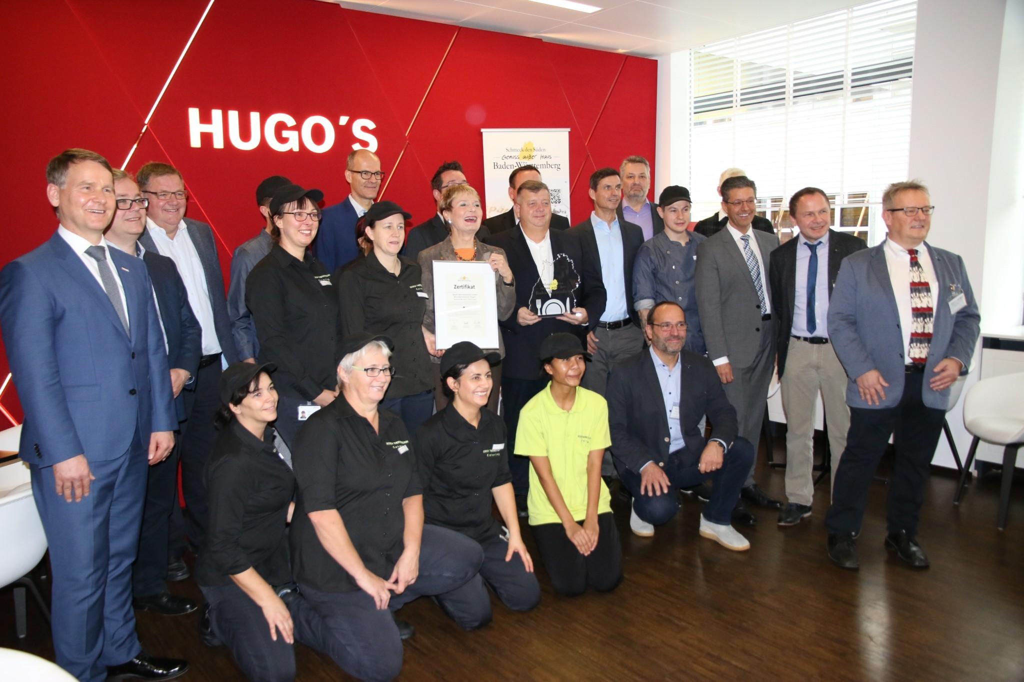 Bild Auszeichnung der Betriebsgastronomie Hugo's bei Bosch Thermotechnik in Wernau
