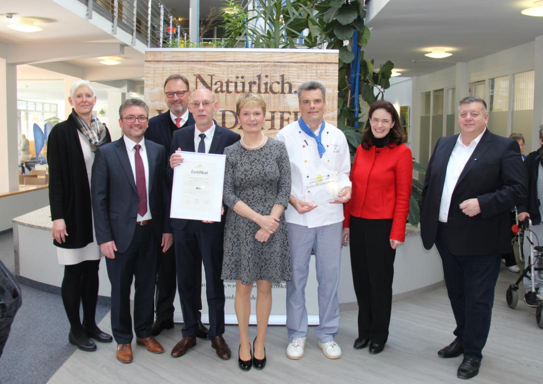 Bild Auszeichnung der Reha-Klinik Bad Sebastiansweiler