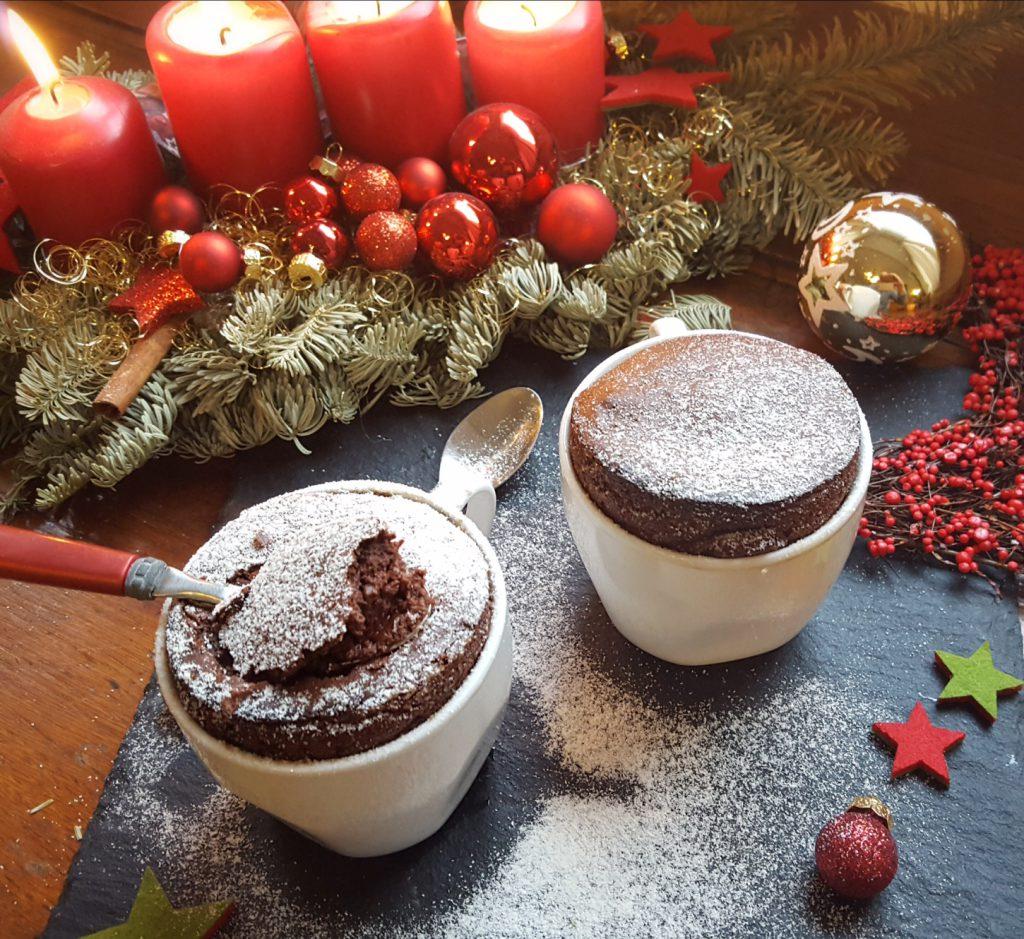 Unser Weihnachtsdessert: Schokoladen Souffleè in der Tasse