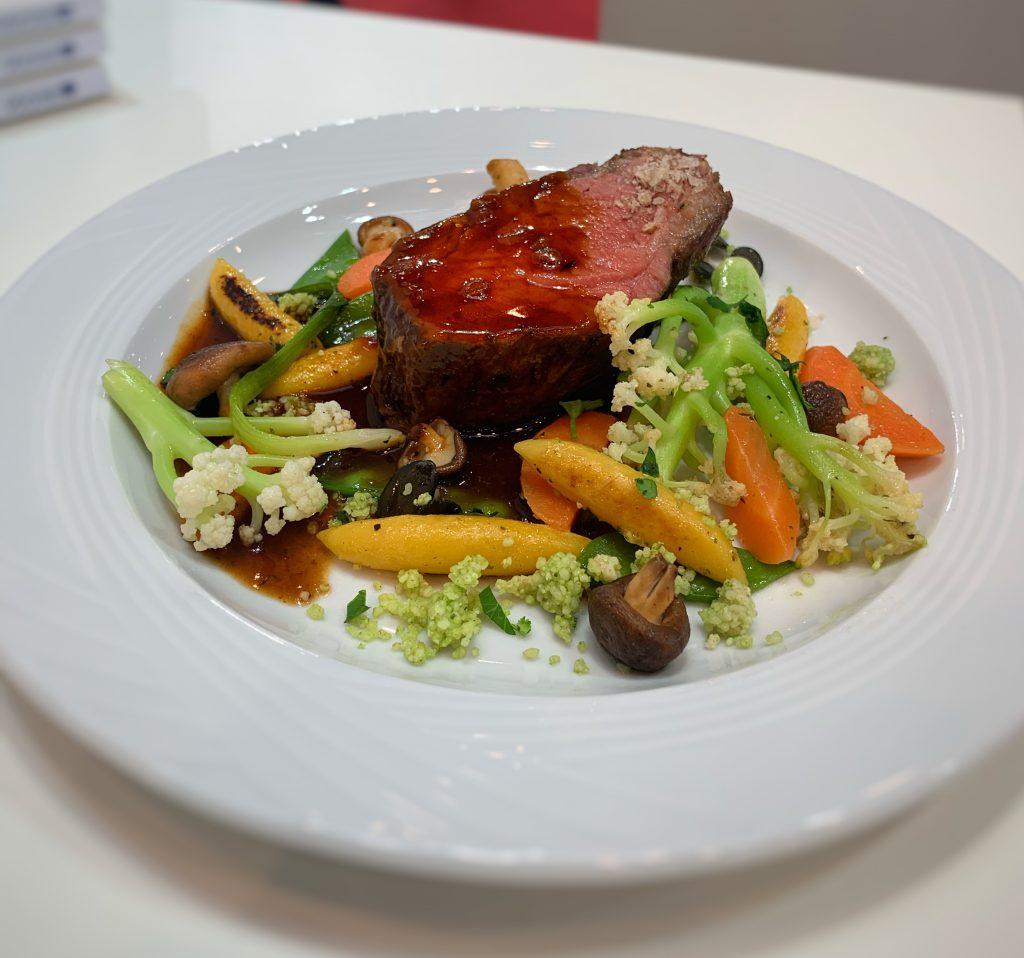 Chateaubriand mit Rotweinjus und Pfannengemüse
