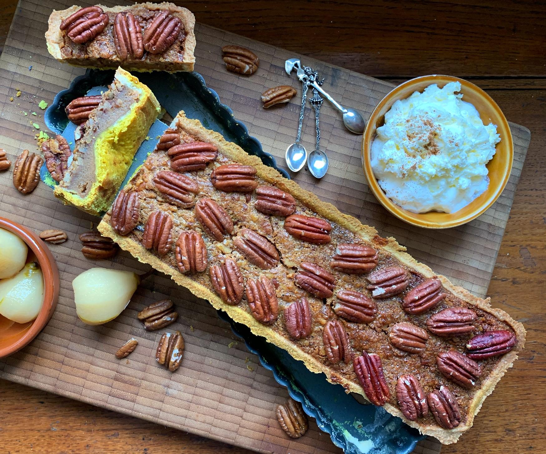 Nuss-Tarte mit Honig & Zimt
