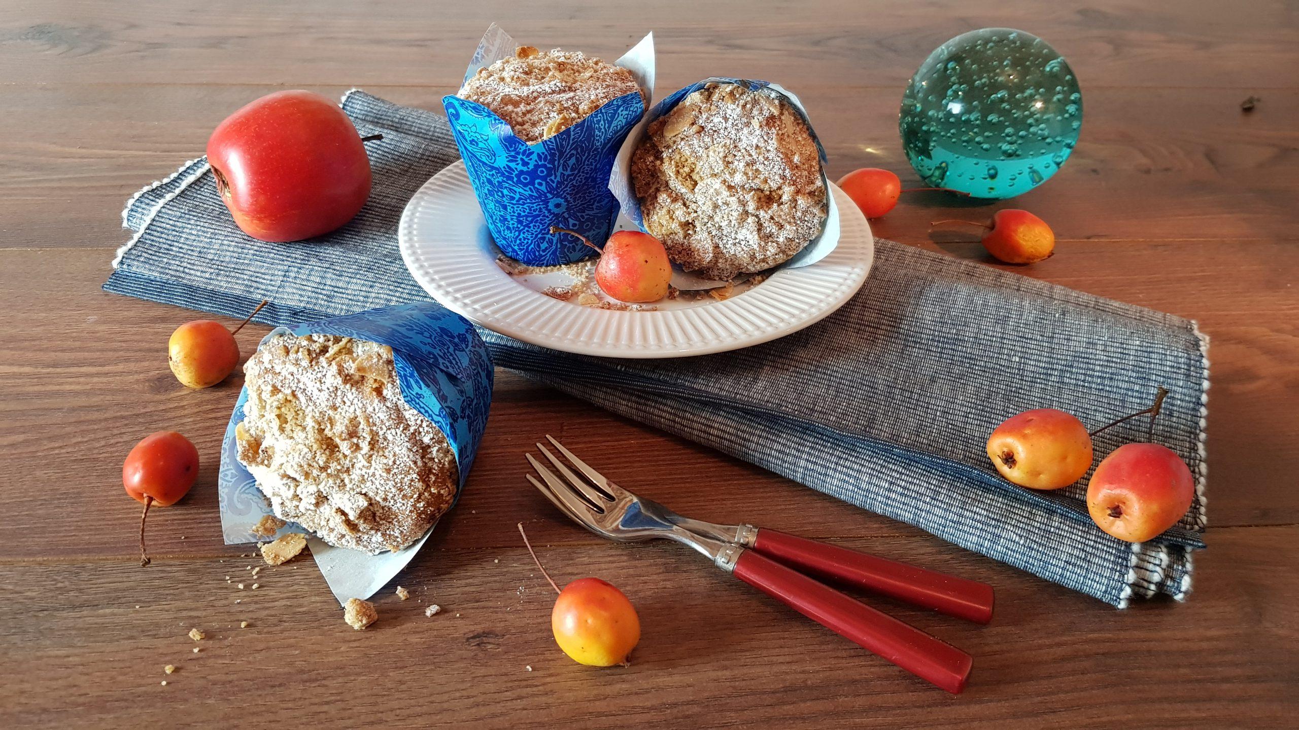Saftige Zimt-Nuss-Muffins mit Apfelfüllung