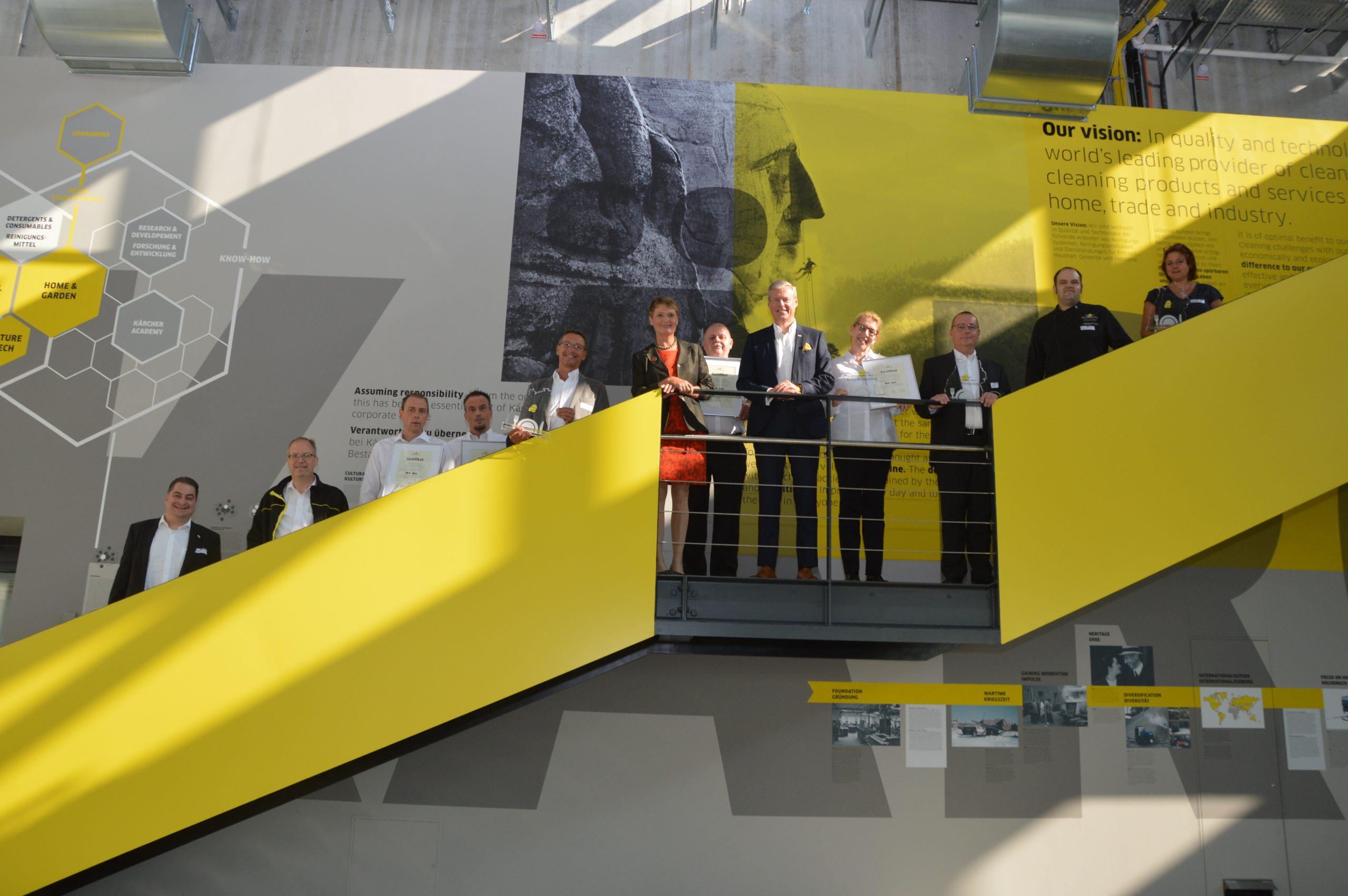 Bild Auszeichnung von vier Standorten der Alfred Kärcher SE & Co. KG Betriebsgastronomie