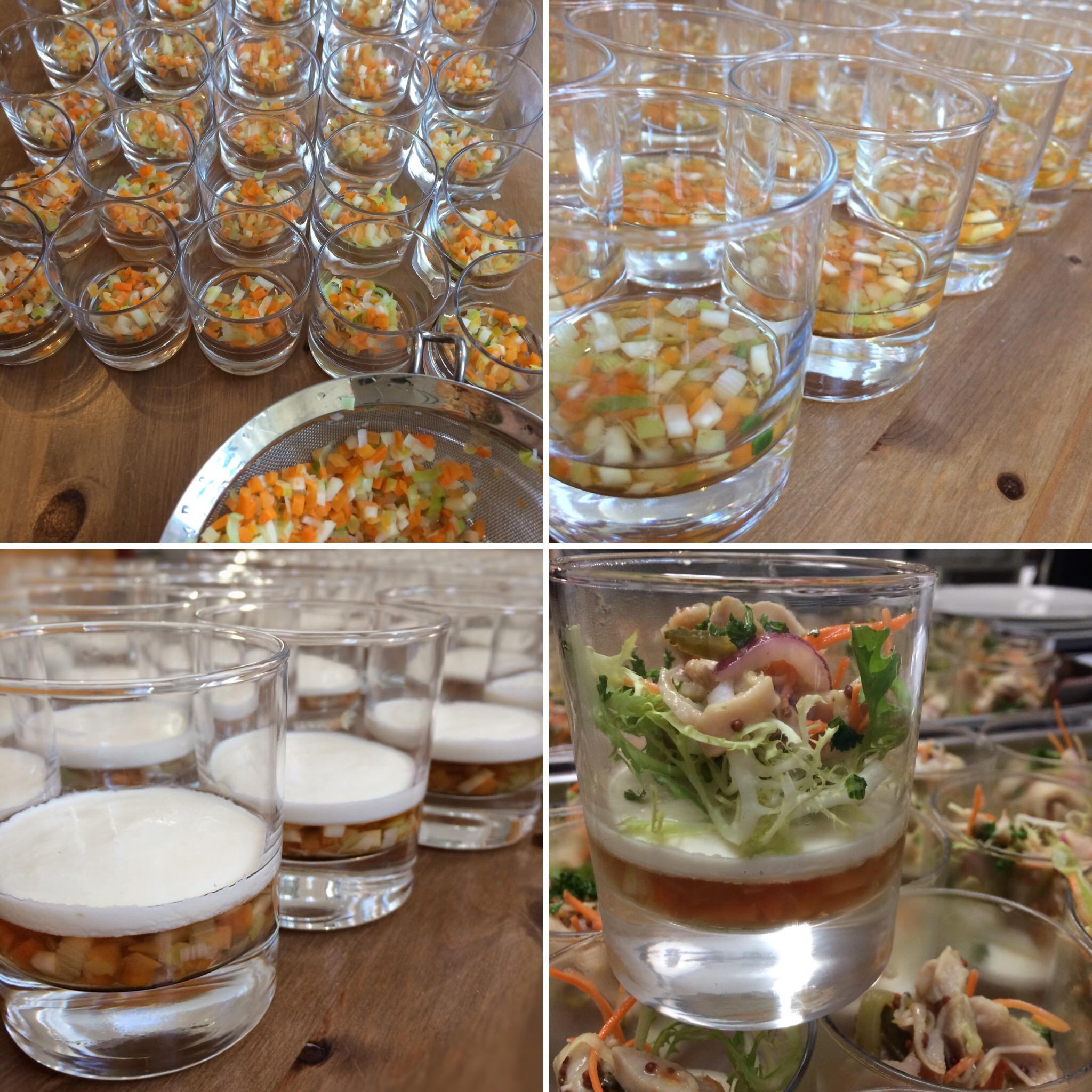 Tafelspitzsülzchen im Glas mit Meerrettich-Schmand